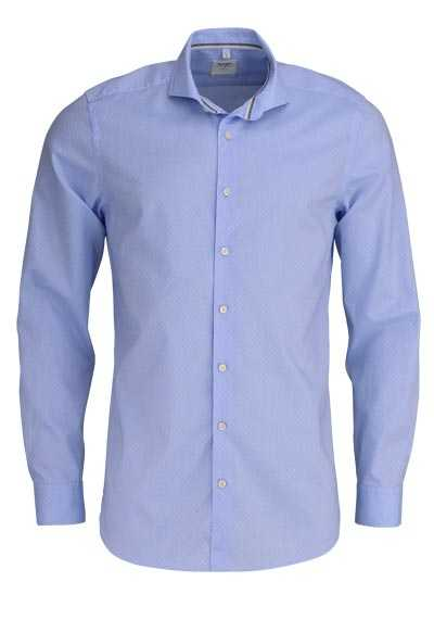 OLYMP Level Five Smart Business body fit Hemd extra l. Arm Muster blau