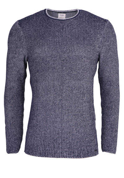 OLYMP Level Five Smart Business body fit Pullover Langarm meliert navy