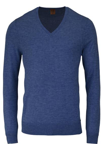 OLYMP Level Five Stick body fit Pullover V-Ausschnitt navy preisreduziert