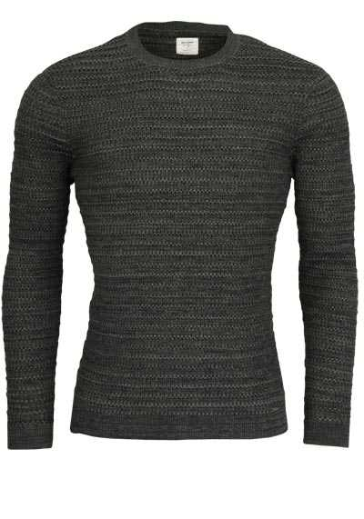 OLYMP Level Five Strick body fit Pullover Langarm Strick petrol