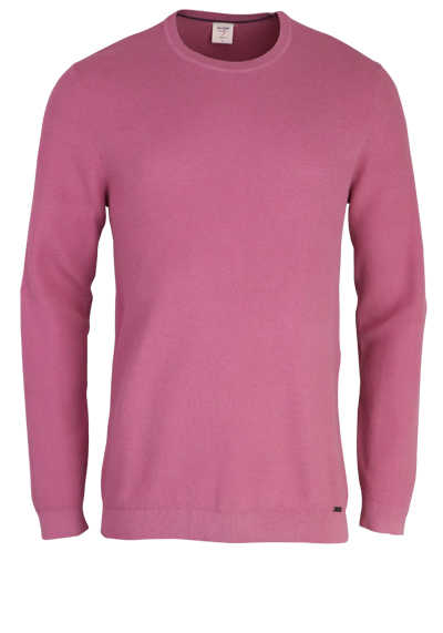 OLYMP Level Five Strick body fit Pullover Rundhals altrosa preisreduziert