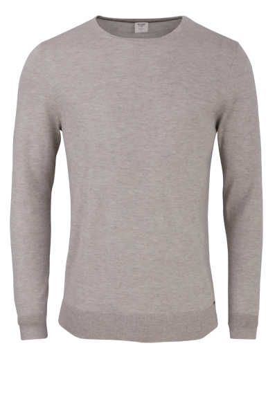 OLYMP Level Five Strick body fit Pullover Rundhals beige