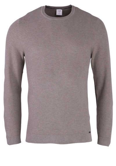 OLYMP Level Five Strick body fit Pullover Rundhals camel