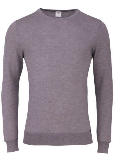 OLYMP Level Five Strick body fit Pullover Rundhals dunkelbraun preisreduziert