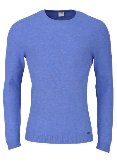 OLYMP Level Five Strick body fit Pullover Rundhals himmelblau preisreduziert