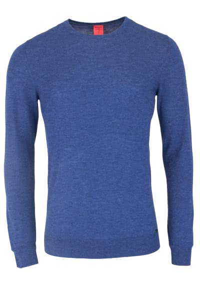 OLYMP Level Five Strick body fit Pullover Rundhals navy preisreduziert