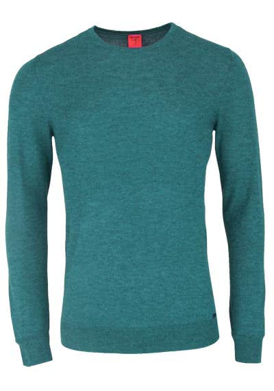 OLYMP Level Five Strick body fit Pullover Rundhals oliv