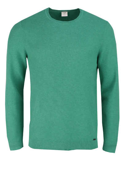 OLYMP Level Five Strick body fit Pullover Rundhals smaragdgrün