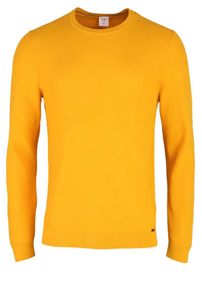 OLYMP Level Five Strick body fit Pullover Rundhals sonnengelb