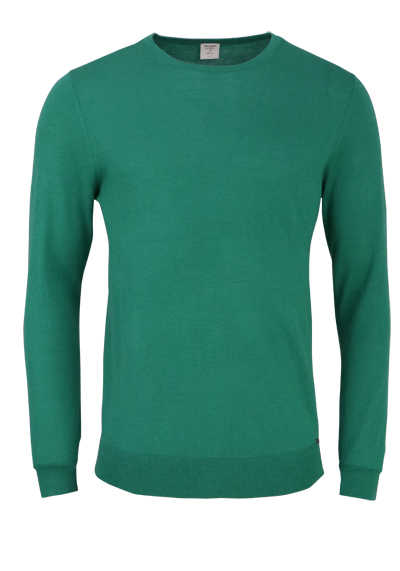 OLYMP Level Five Strick body fit Pullover Rundhals türkis