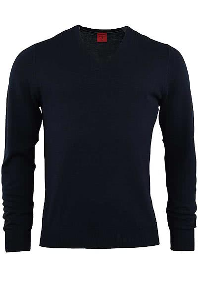 OLYMP Level Five Strick body fit Pullover V-Ausschnitt dunkelblau