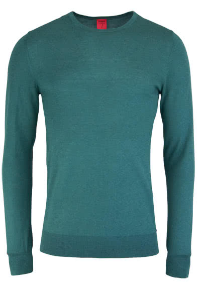 OLYMP Level Five Strick body fit Pullover V-Ausschnitt oliv