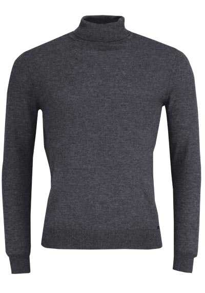 OLYMP Level Five Strick body fit Rollkragenpullover anthrazit preisreduziert