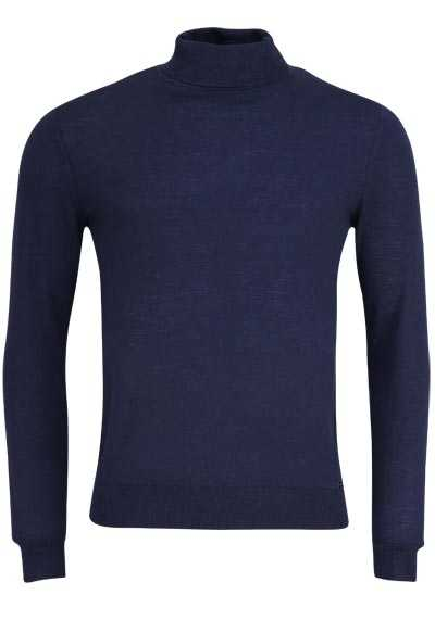 OLYMP Level Five Strick body fit Rollkragenpullover dunkelblau preisreduziert