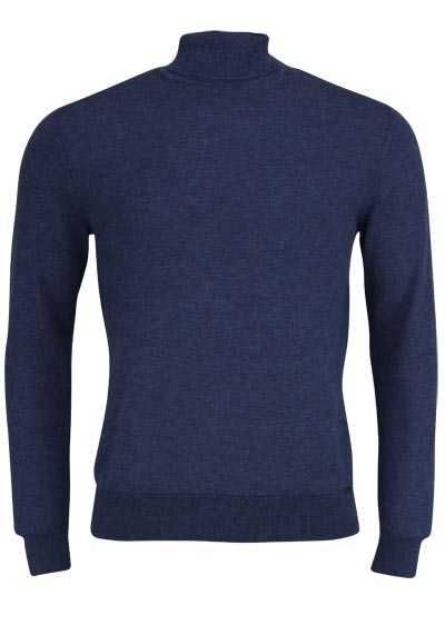 OLYMP Level Five Strick body fit Rollkragenpullover navy