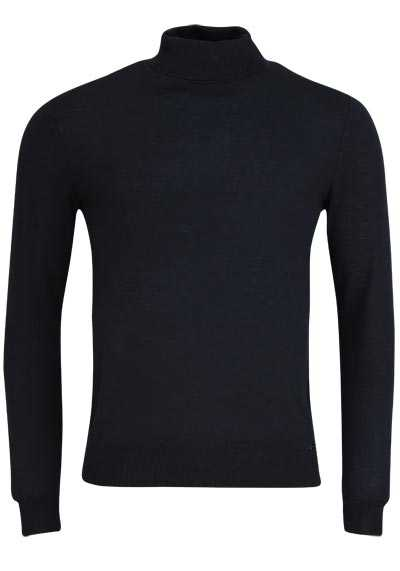 OLYMP Level Five Strick body fit Rollkragenpullover schwarz preisreduziert