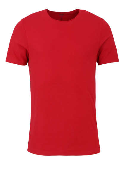 OLYMP Level Five T-Shirt Halbarm Rundhals Stretch feuerrot