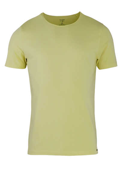 OLYMP Level Five T-Shirt Halbarm Rundhals Stretch gelb
