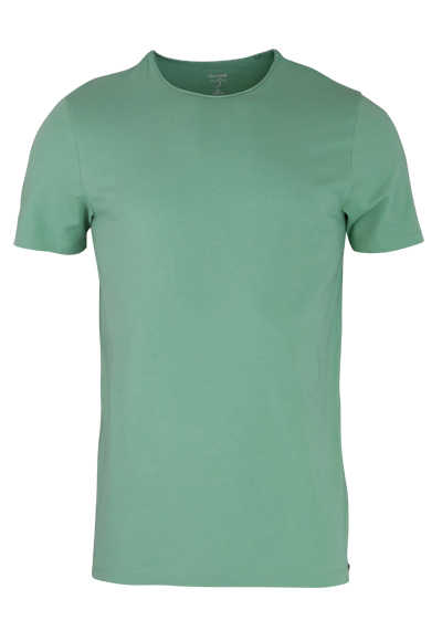OLYMP Level Five T-Shirt Halbarm Rundhals Stretch moos