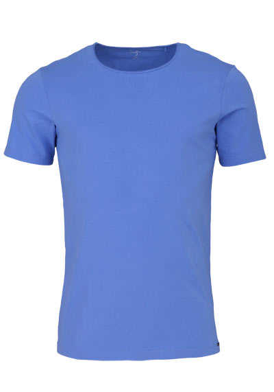 OLYMP Level Five T-Shirt Halbarm Rundhals Stretch türkis