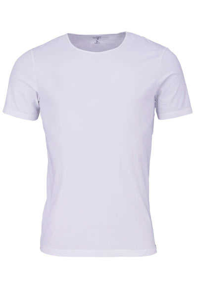 OLYMP Level Five T-Shirt Halbarm Rundhals Stretch weiß