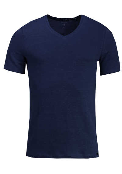 OLYMP Level Five T-Shirt Halbarm V-Ausschnitt Stretch nachtblau