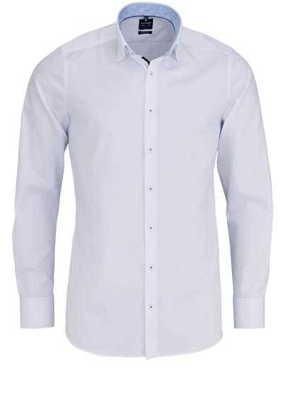 OLYMP Level Five body fit Hemd Langarm Under-Button-Down Stretch weiß