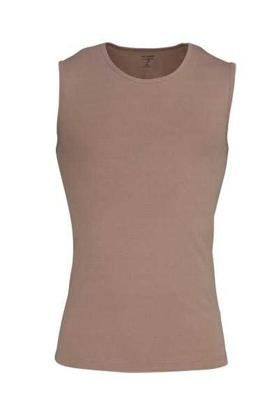 OLYMP Level Five body fit Unterzieh- T-Shirt Rundhals Stretch beige