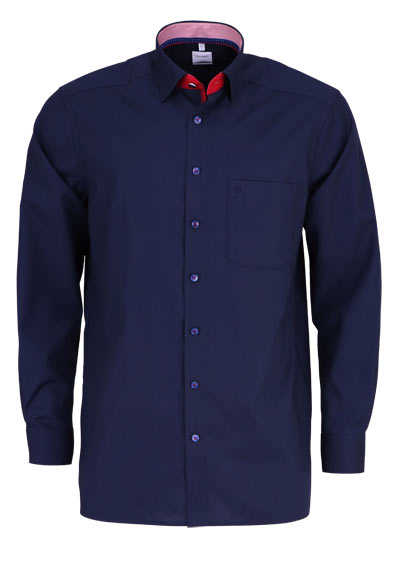 OLYMP Luxor comfort fit Hemd Langarm Under Button Down Kragen blau