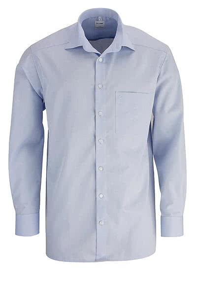 OLYMP Luxor comfort fit Hemd extra langer Arm Chambray hellblau