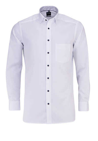 OLYMP Luxor modern fit Hemd Langarm Under-Button-Down weiß