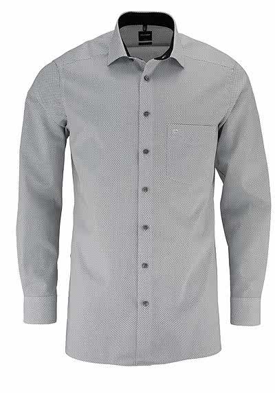olymp luxor modern fit hemd extra langer arm streifen rot. Black Bedroom Furniture Sets. Home Design Ideas