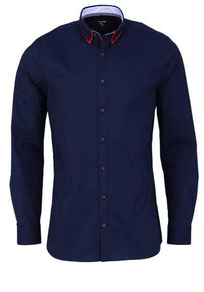 OLYMP No. Six super slim Hemd Langarm Button Down Kragen nachtblau