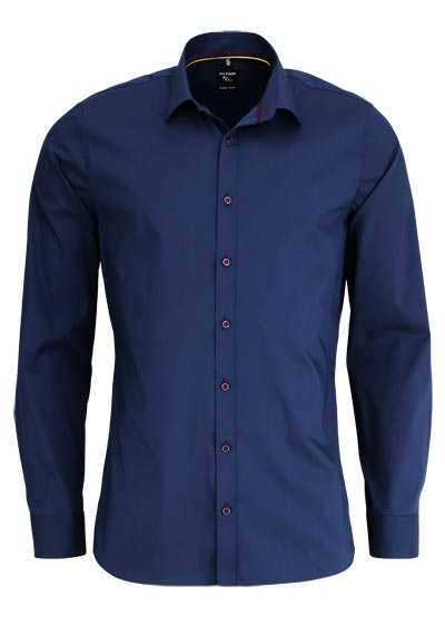 OLYMP No. Six super slim Hemd Langarm New Kent Kragen navy
