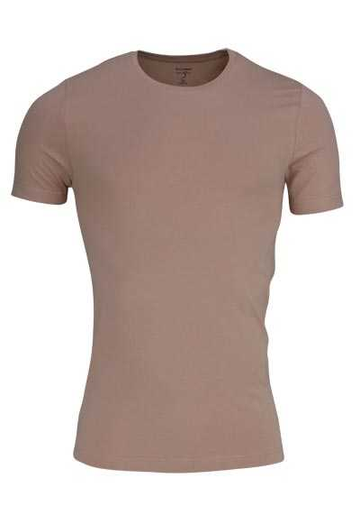 OLYMP T-Shirt Level Five body fit Halbarm mit Rundhals beige preisreduziert
