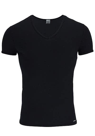 OLAF BENZ Halbarm T-Shirt V-Ausschnitt Mischgewebe weiß - Hemden Meister