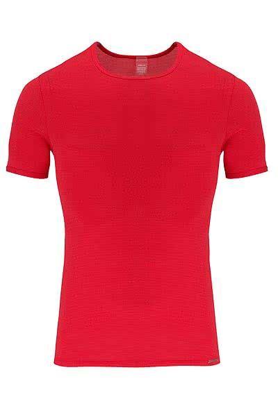 OLAF BENZ Halbarm T-Shirt Rundhals Mischgewebe rot - Hemden Meister