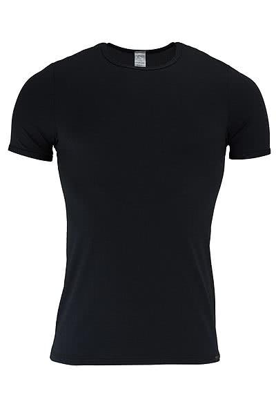 OLAF BENZ Halbarm T-Shirt Rundhals Mischgewebe schwarz - Hemden Meister