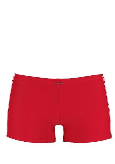OLAF BENZ Beachtrunk mit Zierstreifen an den Seiten rot - Hemden Meister