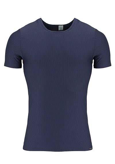 OLAF BENZ Halbarm T-Shirt Rundhals Streifen dunkelblau - Hemden Meister