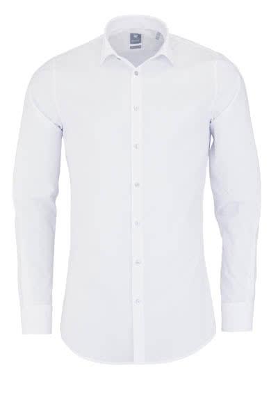 PURE Extra Slim Hemd Langarm New Kent Kragen Stretch weiß - Hemden Meister