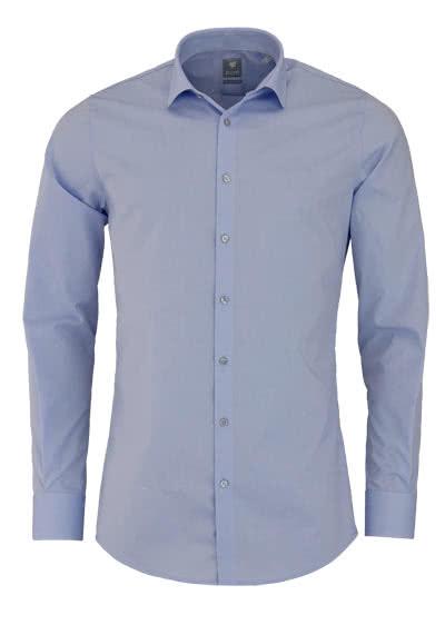 PURE Extra Slim Hemd Langarm New Kent Kragen Stretch hellblau - Hemden Meister