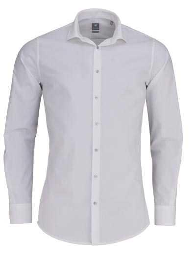 PURE Extra Slim Hemd Langarm New Kent Kragen Stretch beige - Hemden Meister