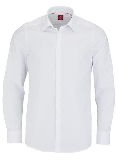 PURE Slim Fit Hemd Langarm New Kent Kragen Stretch weiß - Hemden Meister