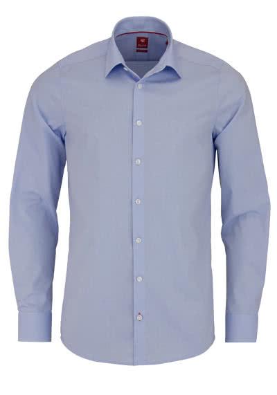 PURE Slim Fit Hemd Langarm New Kent Kragen Stretch hellblau - Hemden Meister