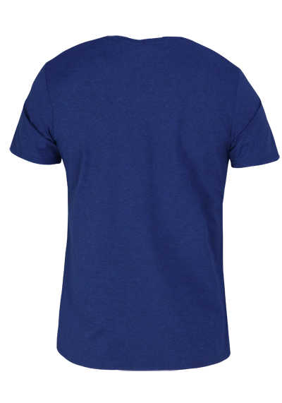 PURE Slim Fit T-Shirt Halbarm Rundhals Stretch navy