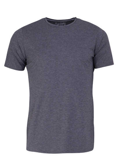PURE Slim Fit T-Shirt Halbarm Rundhals Stretch dunkelgrau