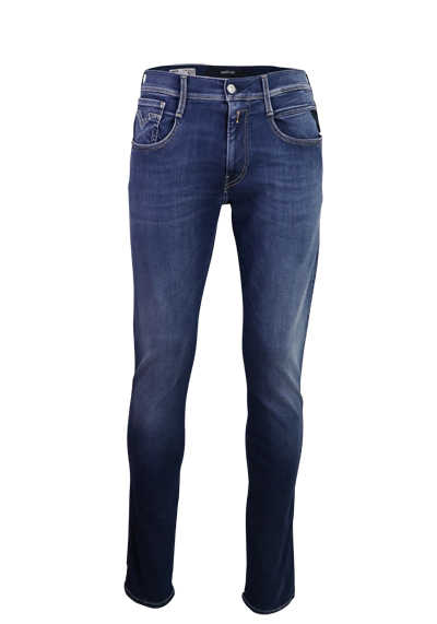 REPLAY Comfort Jeans ANBASS Used 5 Pocket Hyperflex mittelblau