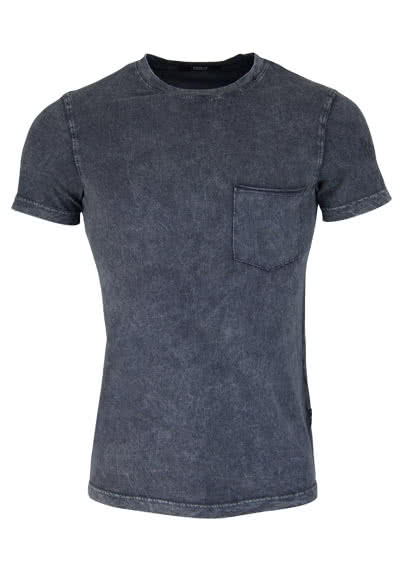 REPLAY Kurzarm T-Shirt Rundhals Brusttasche Used anthrazit