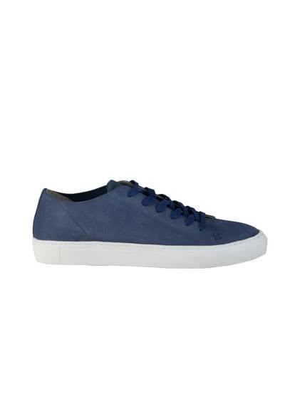 REPLAY Sneaker Schnürer Leder Logo-Prägung dunkelblau - Hemden Meister